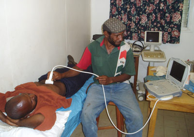 Patients Performing Ultrasound
