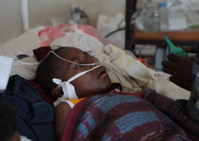 Child with Nasal Oxygen