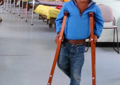 Boy on Crutches