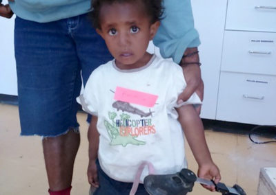 Child with Foot Brace